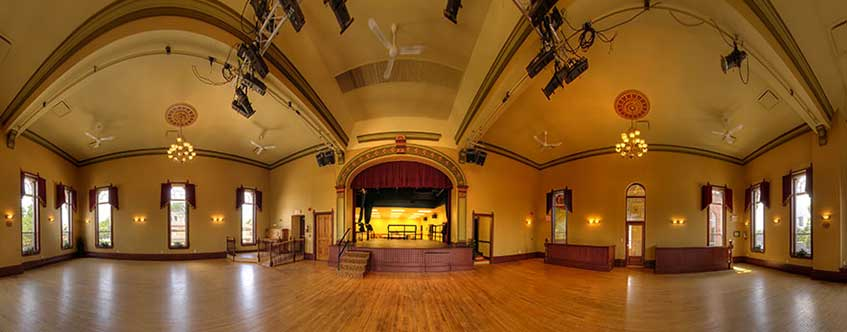 Acton Town Hall - Willow Hall - view of the stage