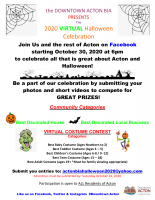 Flyer for 2020 Virtual Halloween.