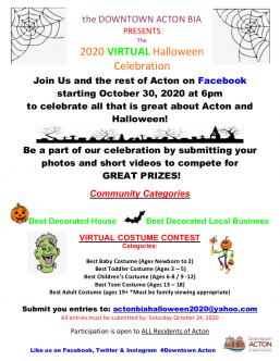 Flyer for 2020 Virtual Halloween.