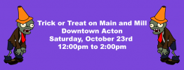 Trick or Treat on Main and Mill